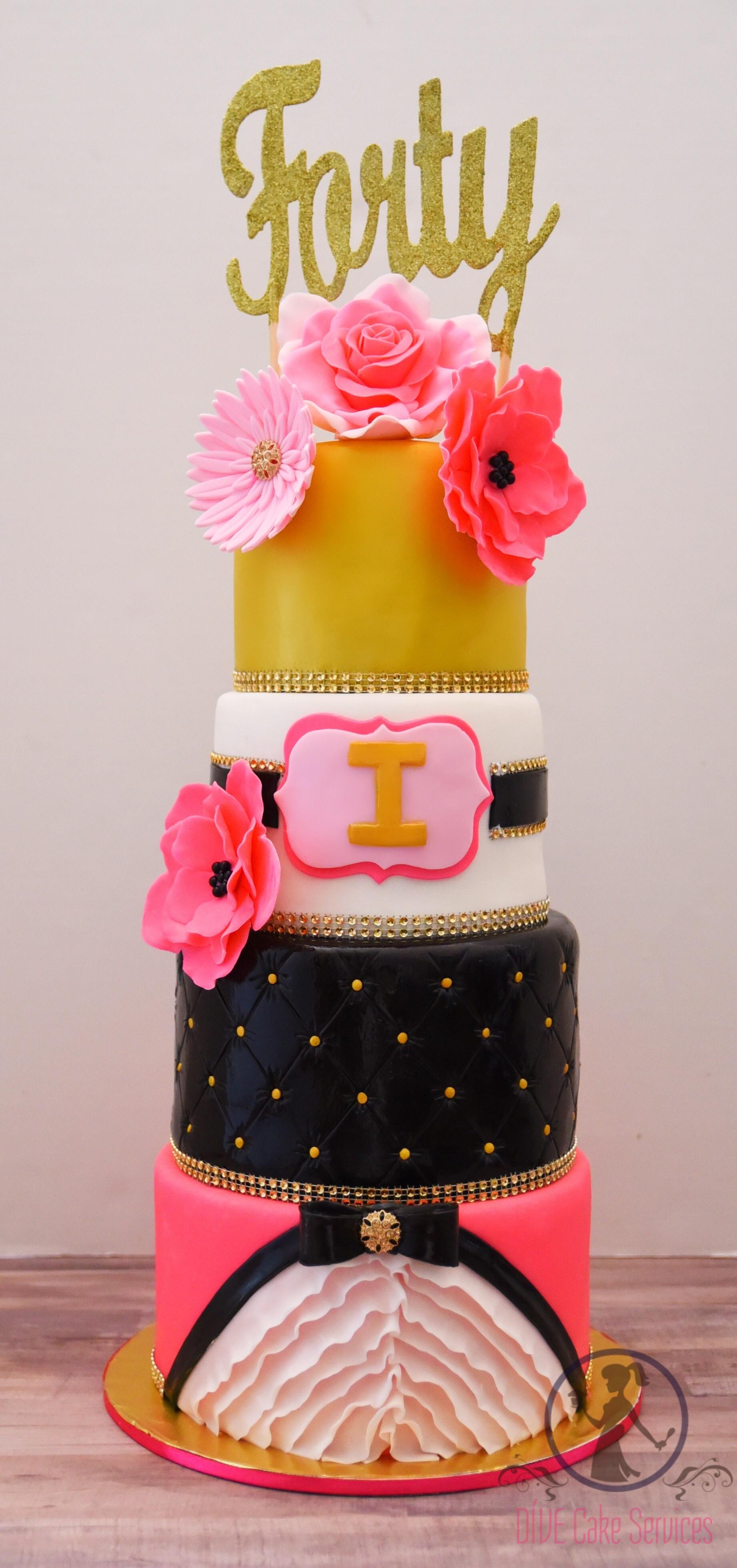 40th elegant cake