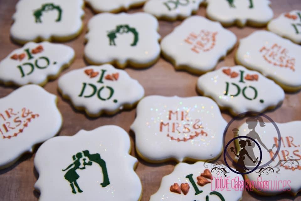 """""""I do"""" wedding cookies"""